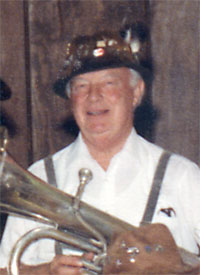 Close-up of Warren Penniman from Thirsty Nine photo with baritone horn