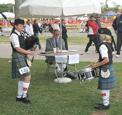 Piping for the drumming judge