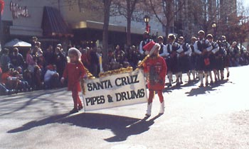 Santa Cruz Pipes & Drums on parade